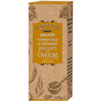 Farmhouse Biscuits, Crackers Pumpafrö & Tranbär
