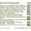 Mac Urth, Mandelolja med Citrus