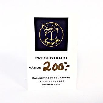 Presentkort - Presentkort 200:-