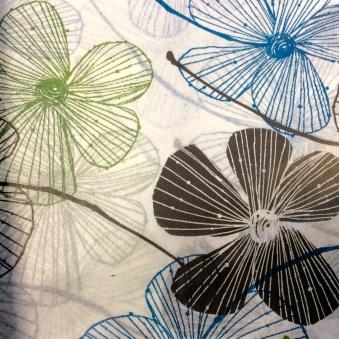 Silkespapper Blommor
