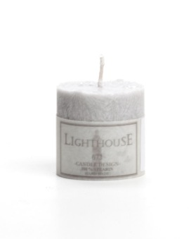Lighthouse, Blockljus Ljusgrått 50x50 mm