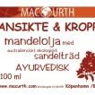 Mac Urth, Ansikte & Kropp Mandelolja