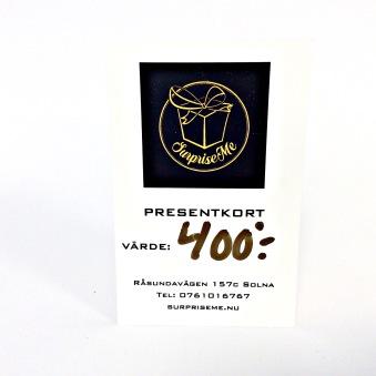 Presentkort - Presentkort 400:-