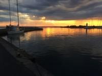 Solnedgång över Gränna