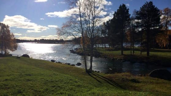 Uddjaure. När sjöarna häromkring frusit används många av dem för att vintertesta bilar och Arjeplog blir ett centrum för fordonstillverkare världen över