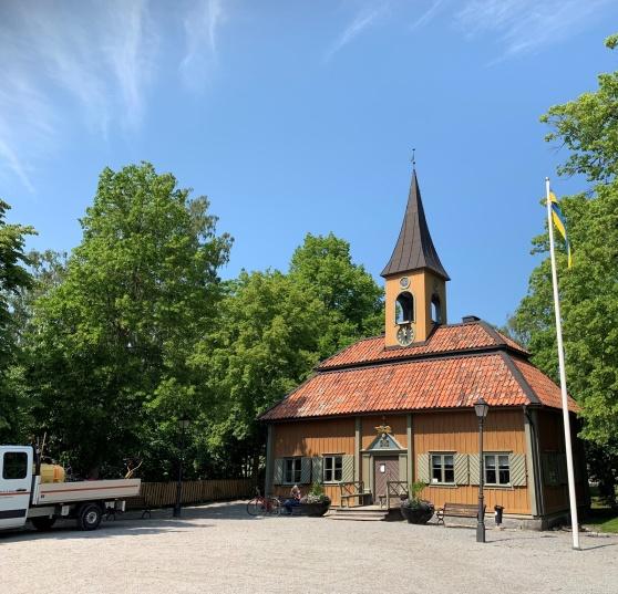Sigtuna Rådhus, Sveriges minsta rådhus, ritat  av borgmästare Erik Kihlman på 1740-talet.