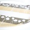 Brickor & Underlägg Nordvild Runda, tre olika mönster - Bricka Nordvild 46x46 cm. Polarull - varmgrå