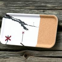 Bricka med EKO-kork Fjällmotiv ledkryss
