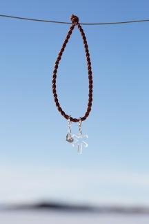 Halsband & Armband Hjärta & Ledkryss - Armband  med ledkryss - OBS! välj färger!