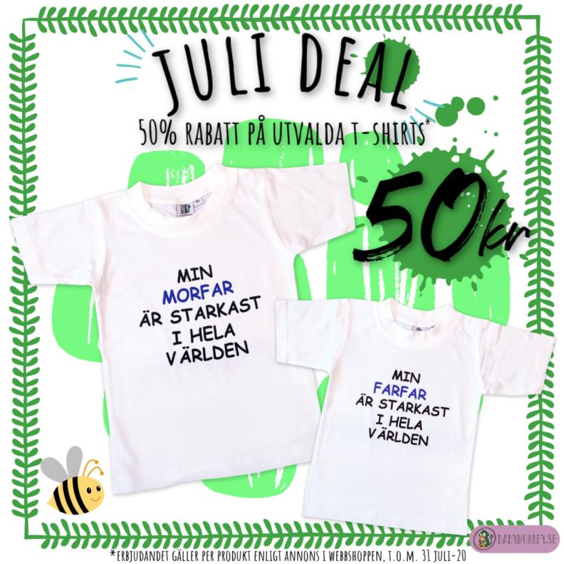 T-shirt med text erbjudande