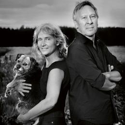Ulla de Verdier, radioprofil och Adrian Honcoop, konstnär