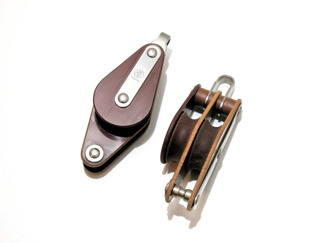 Dubbelblock med bleck - Dubbelblock m bleck 10 mm, 30 mm (hjul)
