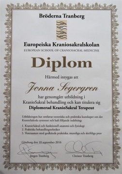 Jonna Segergren KranioSakral terapeut