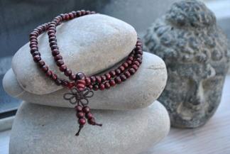 Meditationsarmband - Meditationsarmband  bourgogne
