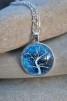 Halsband Livets träd - Halsband Livets träd blå