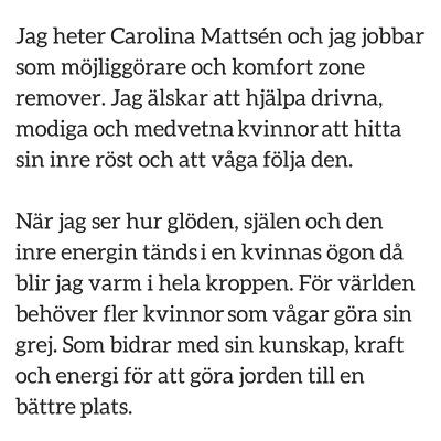 Carolina Mattsén Möjliggörare