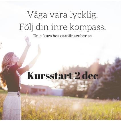 Webkurs Våga vara lycklig. Carolina Zuber