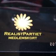 Medlemskort - Realistpartiet