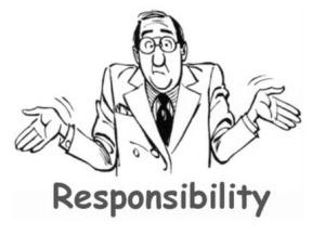Bild: Vadå? - Jag har inget ansvar för mina beslut...