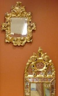 Förgyllning, speglar, nytillverkade barockspeglar
