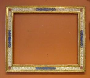 Italiensk renässansram målad och förgylld
