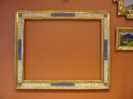 Ram - Förgylld och målad renässansram