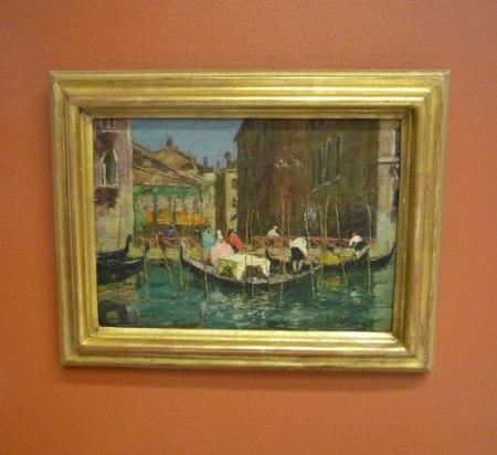Förgylld ram till motiv från Venedig