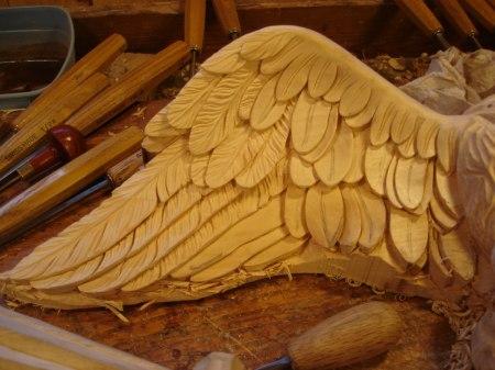 Skärning av vingarnas fjädrar