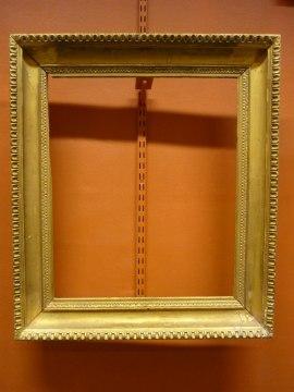 Förgylld ram med träskuren ornamentik, svensk andra hälften 1800-talet