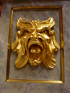 Maskaron - Förgylld i slagmetall