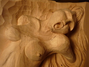 Detalj av skulptur