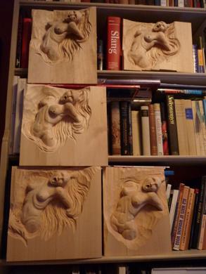 Fem olika varianter av samma tema - Max två timmar per skulptur
