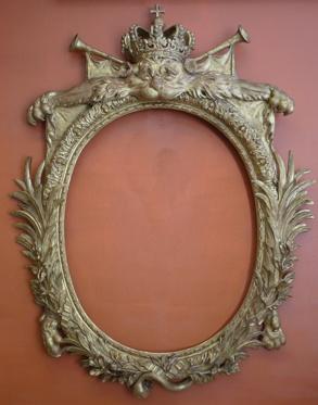 Troféram barock, konserverad och restaurerad.