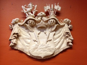 Wood carved Coat of arms
