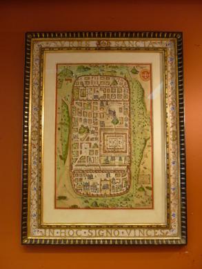 Dekormålad ram till kopparstick av Jerusalem