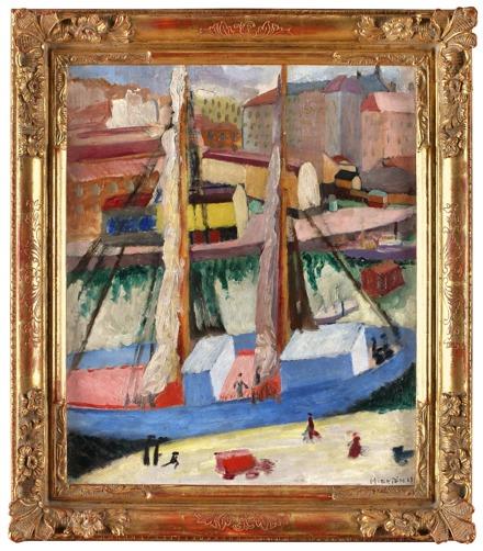 Denna ram gjordes till en målning av Sigrid Hjertén, Den blå skutan.