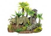 Akvariedekoration Dinousarier/Växt