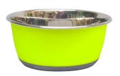 Rostfri skål Antislip Grön