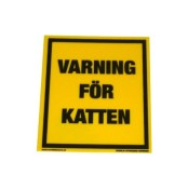 Varning för katten