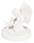 Minnesfigur hund med ängel