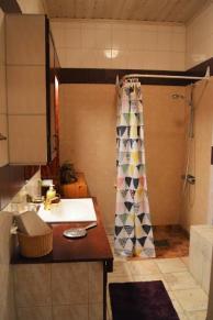 Gemensamt badrum i korridor.