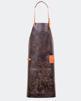 Förkläde Standard Mörkbrun - Standardficka - Kortare modell 87x65