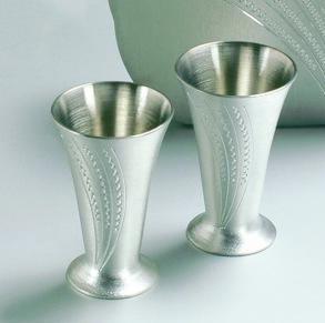 2 st snapsglas -
