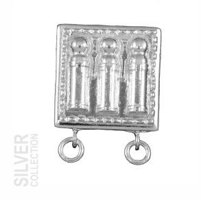 Bältesknapp i silver