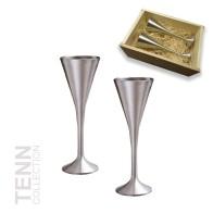 Presentset 2 st snapsglas i trälåda