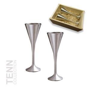 Presentset snapsglas i trälåda - 2 st Snapsglas i trälåda