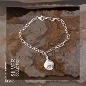 Midnattssol – Armlänk med berlock - 18 cm