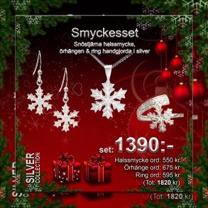 Smyckesset Snöflinga -