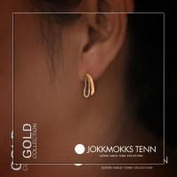 Kukkolaforsen guld örhänge