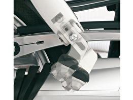 Fotpinnesänkning - passagerare - ERGO passenger footrest lowering kit - silver